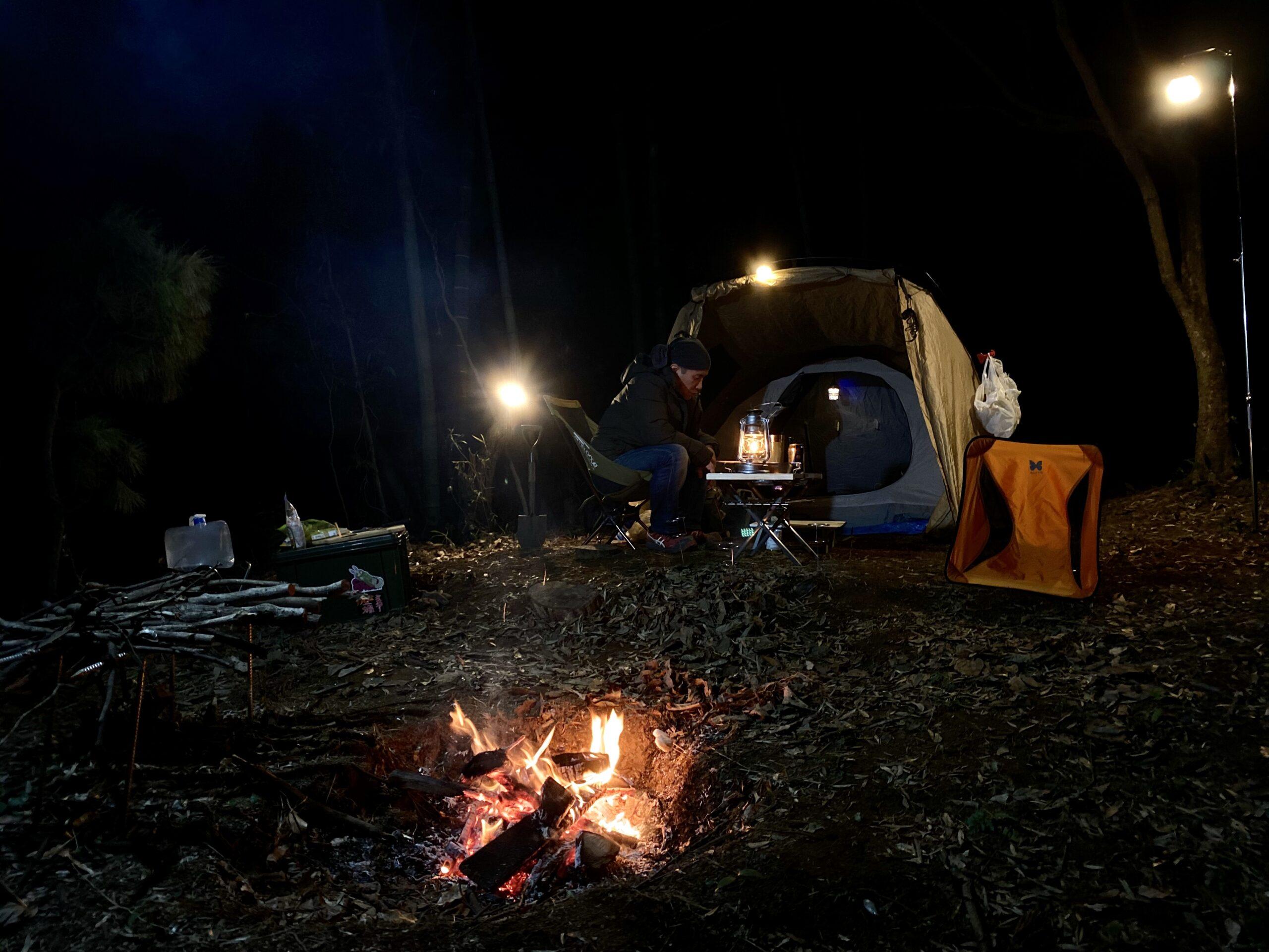 どう森で初キャンプ