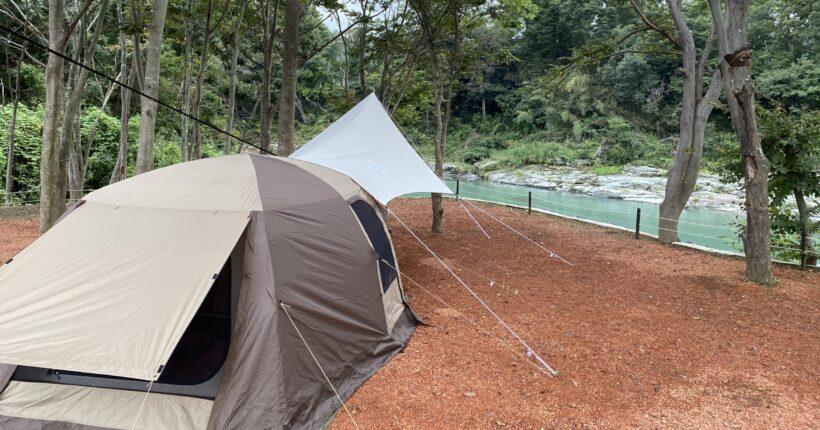 長瀞キャンプ場でティエラリンドを張る