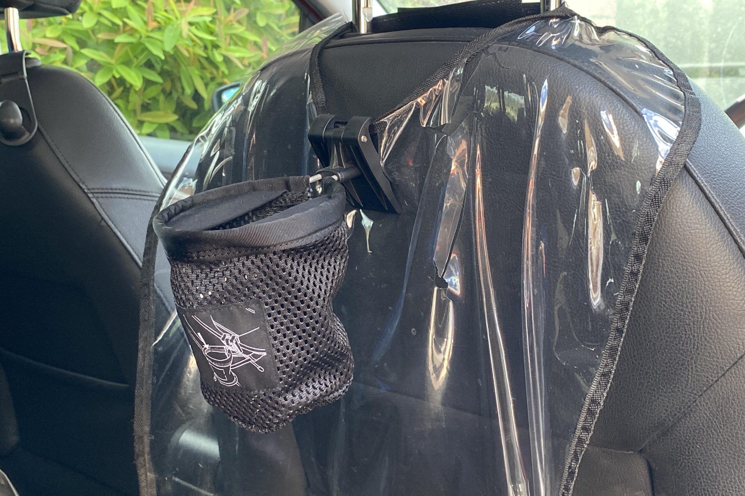 ヘリノックスのカップホルダーを車内で使用